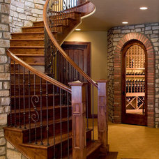 Mediterranean Staircase by Rentfrow Design, LLC