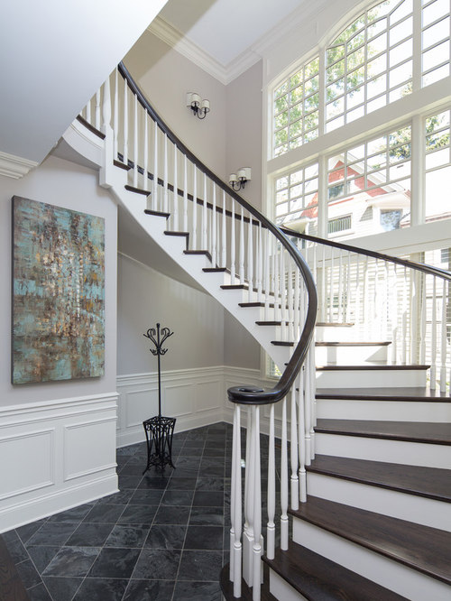 Two Toned Staircase Houzz