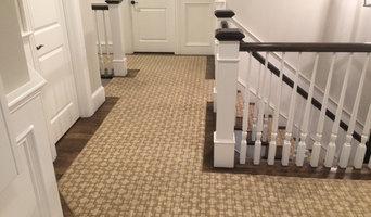 Custom Colored Stair Runner in a New Wellesley Home