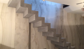 Custom colour matched, polished concrete, stepped soffit stairs