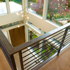 Contemporary Staircase by Riverland Homes Inc