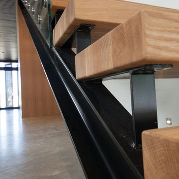 Custom designed floating staircase