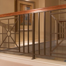 Eclectic Staircase by Hill Custom Homes