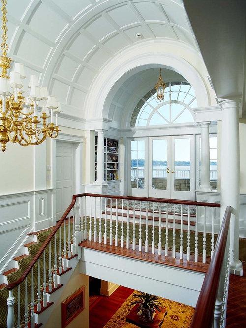 Foyer Ceiling Nj : Vaulted ceiling wainscot houzz