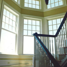 Traditional Staircase by James Wentling/Architect