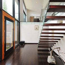 Contemporary Staircase by Ottawa General Contractors