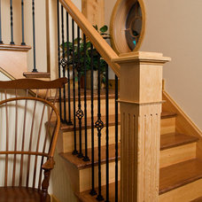 Contemporary Staircase by Metzler Home Builders