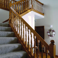 Traditional Staircase by Custom Hardwood Stair Parts