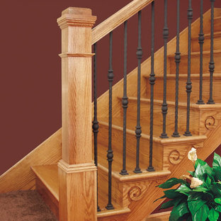 Inspiration for a timeless staircase remodel in Chicago