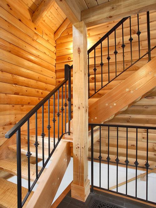 Interior Wrought Iron Stair Railing Ideas & Photos