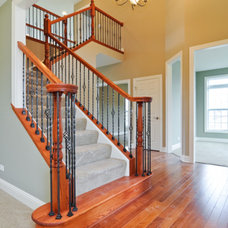 Traditional Staircase by SKYCREST HOMES LLC