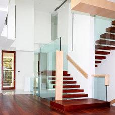Contemporary Staircase by Gaetano Hardwood Floors, Inc.