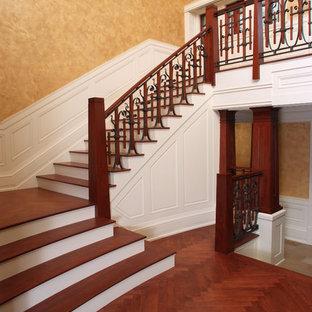 Amerikansk inredning av en trappa