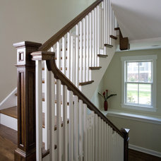 Craftsman Staircase by Great Rooms Designers & Builders