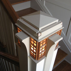 Contemporary Staircase by Hardwood Design Inc.