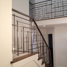 Contemporary Staircase by Pallet & Palette