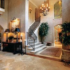 Mediterranean Staircase by Frank Betz Associates, Inc.