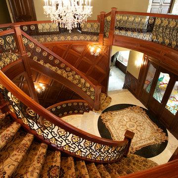 Custom Santos Mahogany Stair