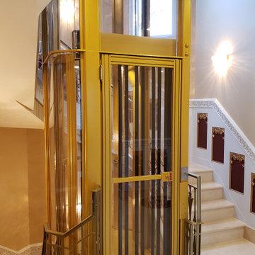 Custom Shaped Artisan Home Elevator
