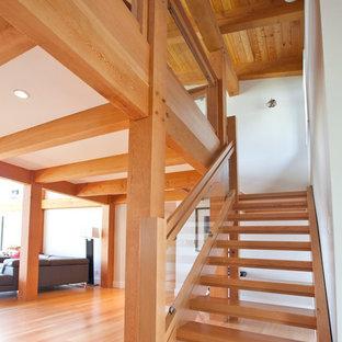 Custom Solid Douglas Fir Stairs