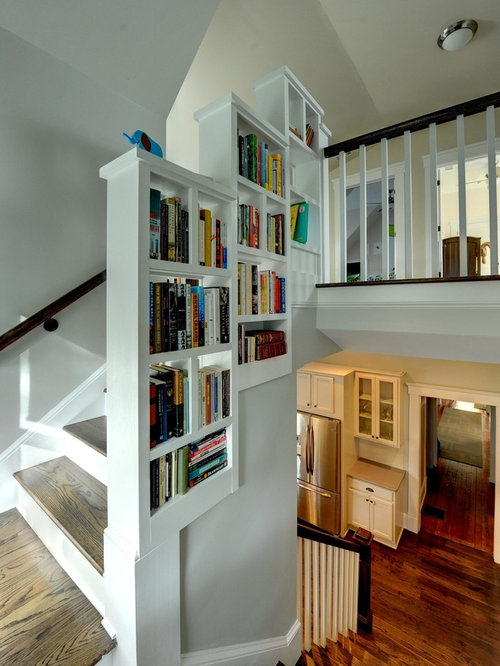 Bookshelf Railing Home Design Ideas Pictures Remodel And