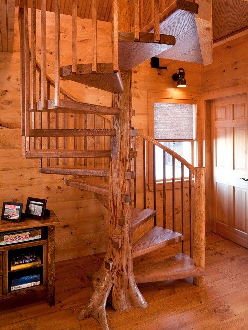 Rustic Portland Maine Staircase Design Ideas Remodels