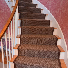 Traditional Staircase by The Carpet Workroom and Reclamation Center, Inc.