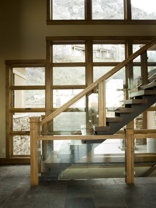 Wood And Glass Staircases Design Ideas Amp Remodel Pictures