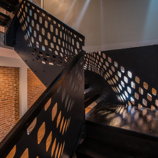 Inspiration for a contemporary wooden open staircase remodel in Baltimore