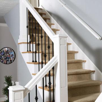 Custom white staircase