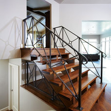 Contemporary Staircase by Clark & Zook Architects, LLC