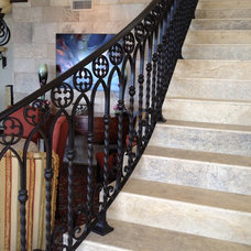 Mediterranean Staircase by Neolithic Design Stone and Tile