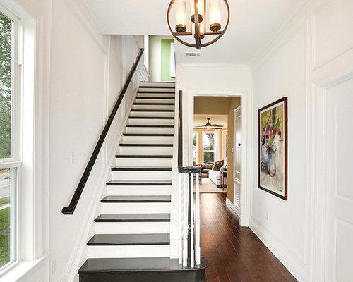 treppen mit beton setzstufen und gebeizten holz treppenstufen ideen design bilder houzz. Black Bedroom Furniture Sets. Home Design Ideas
