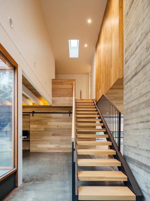 pole barn home staircase design ideas