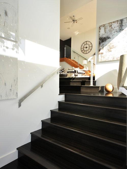Dark Stained Stairs Houzz