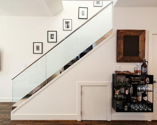 contemporary straight mixed material railing staircase idea in dc metro - Houzz Interior Design Ideas