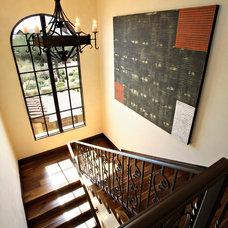 Mediterranean Staircase by Sanctuaries Interior Design