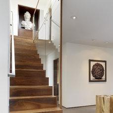 Contemporary Staircase by Geoffrey De Sousa Interior Design