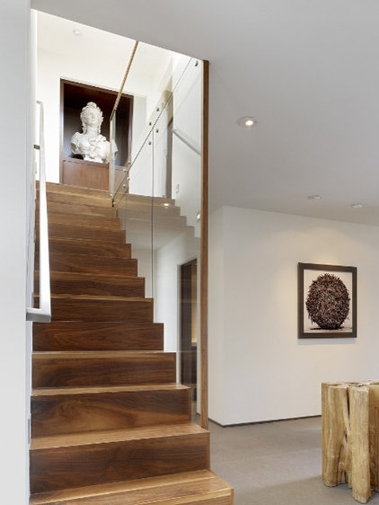 contemporary staircase by Geoffrey De Sousa Interior Design