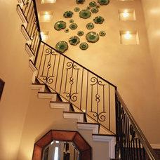 Mediterranean Staircase by Stadler Custom Homes