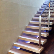 Contemporary Staircase by Arbutus Interiors