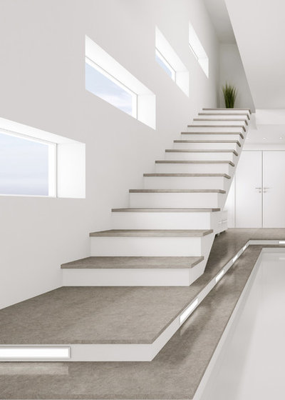 Contemporary Staircase by Cosentino
