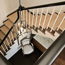 Traditional Staircase by Built Incorporated