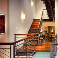 contemporary staircase by Kass & Associates