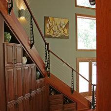 Contemporary Staircase by Stebnitz Builders