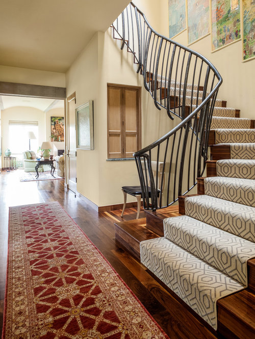 Beautiful Staircase   Mediterranean Wooden Staircase Idea In Dallas