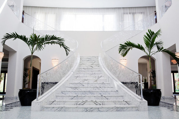 Contemporary Staircase by Greenauer Design Group