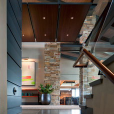 Contemporary Staircase by David Michael Miller Associates