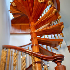 Eclectic Staircase by Bruce Palmer Coastal Design