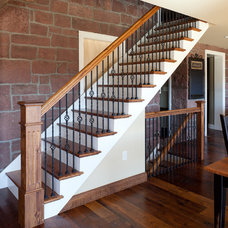 Traditional Staircase by Weaver Construction